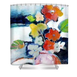 Shower Curtain featuring the painting Flower Vase No.1 by Michelle Abrams