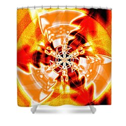 Shower Curtain featuring the drawing Flower Vectors Of Life by Derek Gedney