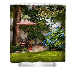 Flower - Westfield Nj - Private Paradise Shower Curtain by Mike Savad