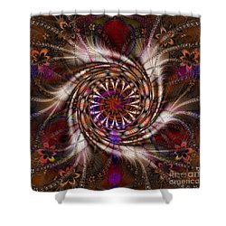 Flowercracker   Shower Curtain by Elizabeth McTaggart