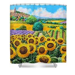 Flowered Garden Shower Curtain by Jean-Marc Janiaczyk
