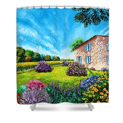 Flowered Garden Shower Curtain by MGL Meiklejohn Graphics Licensing