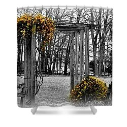 Shower Curtain featuring the photograph Flowering Archway by Tara Potts