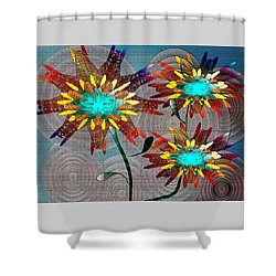 Flowering Blooms Shower Curtain by Iris Gelbart