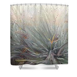 Flowering Bushes In The Fog Shower Curtain by Angela A Stanton