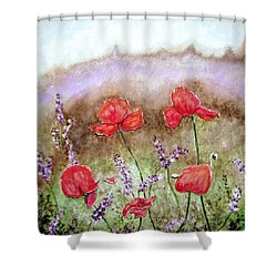 Flowering Field Shower Curtain