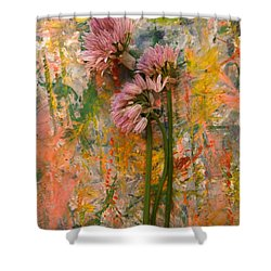 Flowering Garlic Shower Curtain