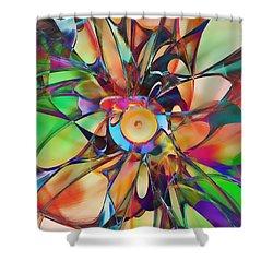 Flowering Shower Curtain by Klara Acel