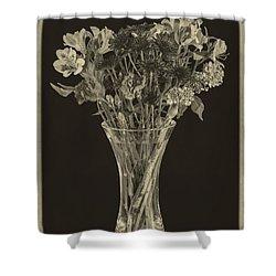 Flowers 1860s Shower Curtain by Edward Fielding