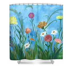 Flowers All Around Shower Curtain
