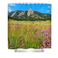 The Flatirons Colorado Shower Curtain by Dan Miller