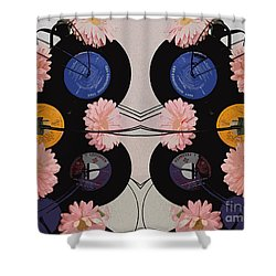 Flowers And Phonographs Shower Curtain