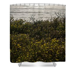 Flowers And The Sea Shower Curtain