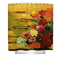 Flowers At The Side Of The House Shower Curtain by Mary Carol Williams