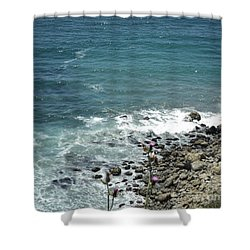 Flowers By The Seashore Shower Curtain by Carla Carson