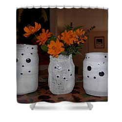 Halloween Flowers For Mummy Shower Curtain