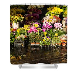 Flowers For Sale At Campo De Fiori - My Favourite Market In Rome Italy Shower Curtain