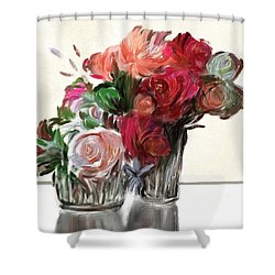 Flowers For Valentines Shower Curtain
