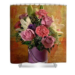 Flowers From A Friend Shower Curtain by Lois Bryan