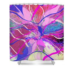 Original Contemporary Abstract Art Flowers From Heaven Shower Curtain by RjFxx at beautifullart com
