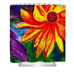 Flowers I Shower Curtain by Carla Sa Fernandes