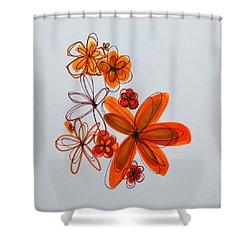 Flowers IIII Shower Curtain by Patricia Awapara
