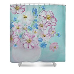 Flowers In A Vase. Inspirations Collection Shower Curtain