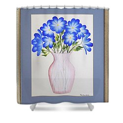 Flowers In A Vase Shower Curtain