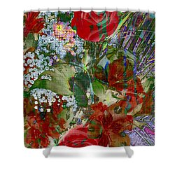 Shower Curtain featuring the digital art Flowers In Bloom by Liane Wright