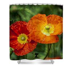 Flowers In Kodakchrome Shower Curtain