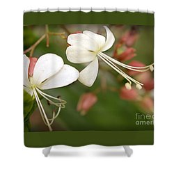 Flowers In The Dancing Garden Shower Curtain