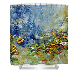 Flowers In The Fog Shower Curtain by Craig T Burgwardt