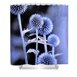 Flowers In The Metal Shower Curtain by Tommytechno Sweden