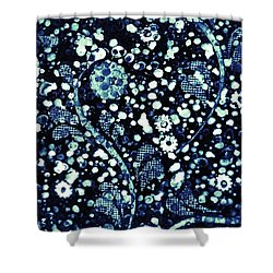 Flowers In The Rubble Shower Curtain