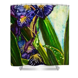 Flowers In Your Hair II Shower Curtain by Lil Taylor