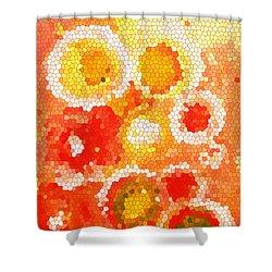 Flowers Iv Shower Curtain by Patricia Awapara