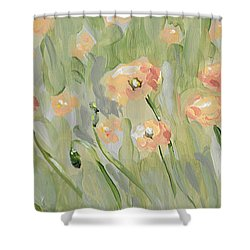 Shower Curtain featuring the painting California Poppies by Maria Langgle