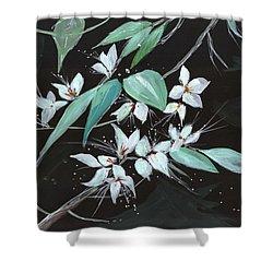 Flowers N Petals Shower Curtain by Anil Nene