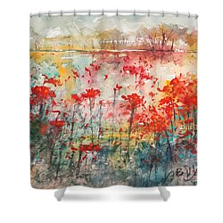 Flowers Never Worry Shower Curtain