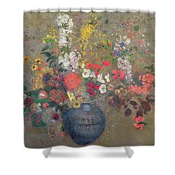 Flowers Shower Curtain by Odilon Redon