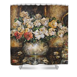 Flowers Of My Heart Shower Curtain by Dariusz Orszulik