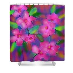 Flowers Of October Shower Curtain by Latha Gokuldas Panicker