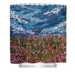 Shower Curtain featuring the painting Flowers Of The Field by Meaghan Troup