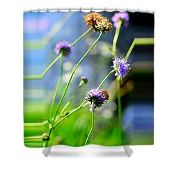 Flowers On Summer Meadow Shower Curtain by Tommytechno Sweden