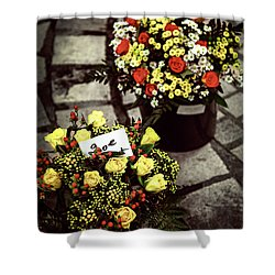 Flowers On The Market In France Shower Curtain by Elena Elisseeva