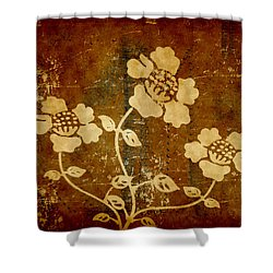 Flowers On The Wall Shower Curtain