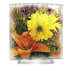 Shower Curtain featuring the photograph Flowers With Love by Luther Fine Art