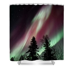 Flowing Colours Shower Curtain by Priska Wettstein