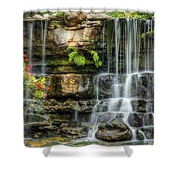Shower Curtain featuring the photograph Flowing Falls by Dave Files