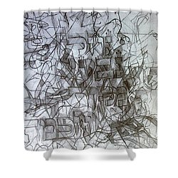 Flowing River The Source Of Wisdom 3 Shower Curtain by David Baruch Wolk